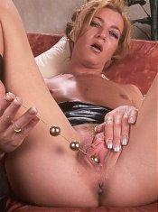 Hot MILF showing off her wet snatch