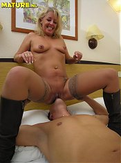 This naughty housewife loves a hard cock
