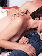 Hot grandma Stephanie removes her dentures to work a cock with her mouth and gets screwed