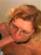 Big boobed grandma Rosy Rocket kneels down to give her lover a mouthfuck in this granny porn live